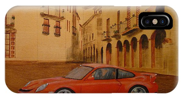 Red Gt3 Porsche IPhone Case