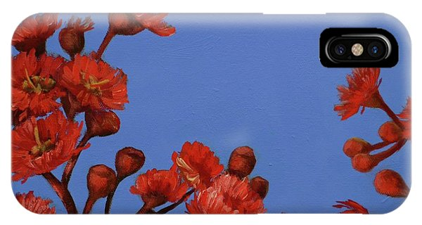 Red Gum Blossoms IPhone Case