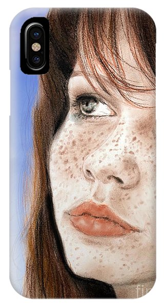 Red Hair And Freckled Beauty Version II IPhone Case