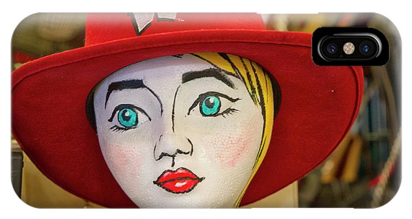 Red Hat On Mannequin Head IPhone Case