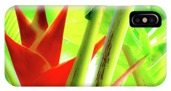 Red Heliconia IPhone Case