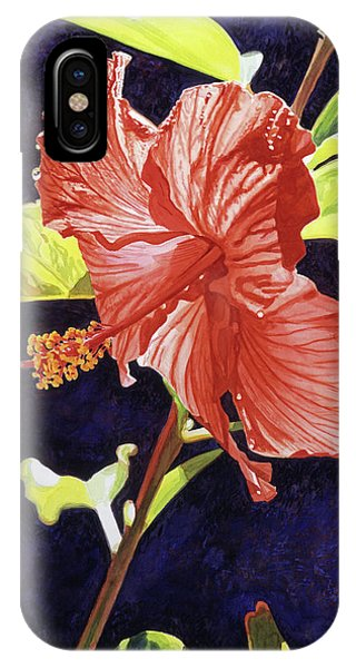 Hibiscus Flower iPhone Case - Red Hibiscus by David Lloyd Glover