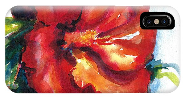 Fireball Red Hibiscus IPhone Case