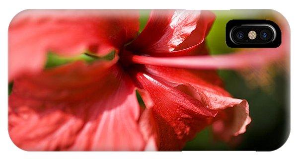 Red Hibiscus Macro IPhone Case
