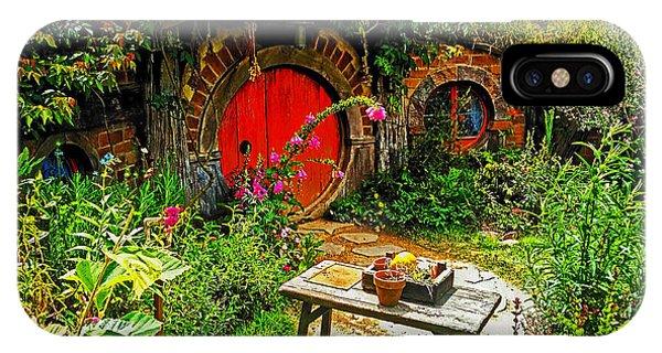 Red Hobbit Door IPhone Case