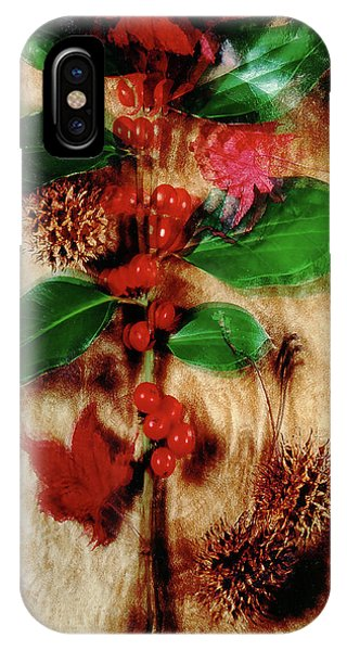 Red Holly Spinning IPhone Case