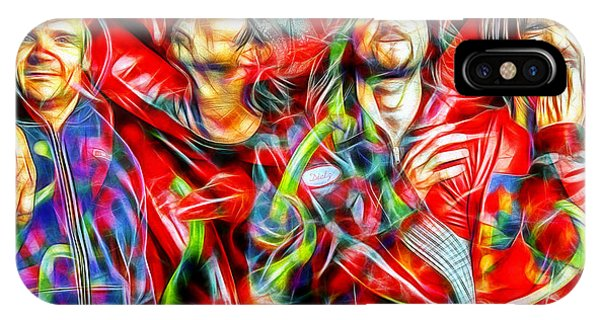 Red Hot Chili Peppers In Color II  IPhone Case