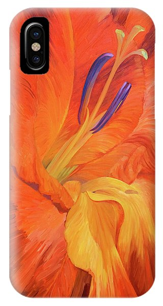 Red-hot Flower IPhone Case