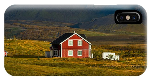 Red House And Horses - Iceland IPhone Case
