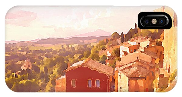 Red House On A Hill IPhone Case