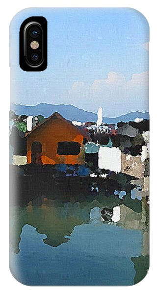 Red House On The Water IPhone Case