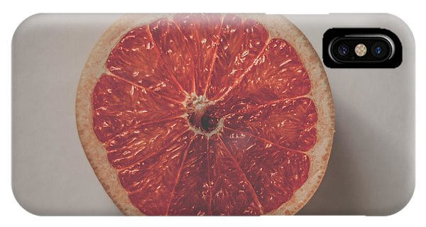 Grapefruit iPhone Case - Red Inside by Kate Morton