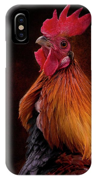 Red Jungle Fowl Rooster IPhone Case