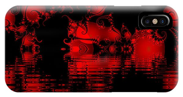 Red Lake Cave Fractal IPhone Case
