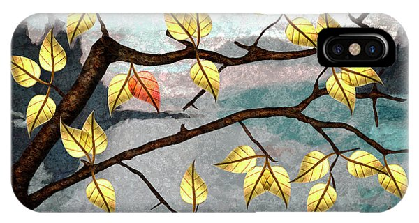 iPhone Case - Red Leaf by Ken Taylor