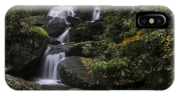 Red Leaf Waterfalls IPhone Case