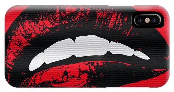Cosmetic iPhone Case - Red Lips by Edouard Coleman