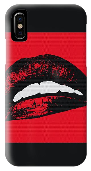 Head iPhone Case - Red Lips by Edouard Coleman