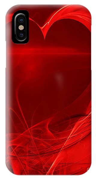 Julia Fractal iPhone X Case - Red Love . A120423.279 by Wingsdomain Art and Photography