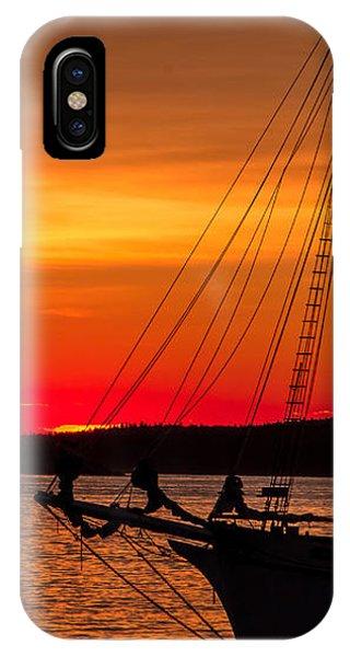 Red Maine Sunrise IPhone Case