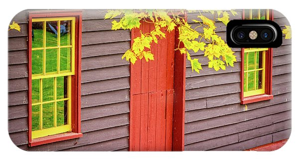 Red Mill Door In Fall IPhone Case