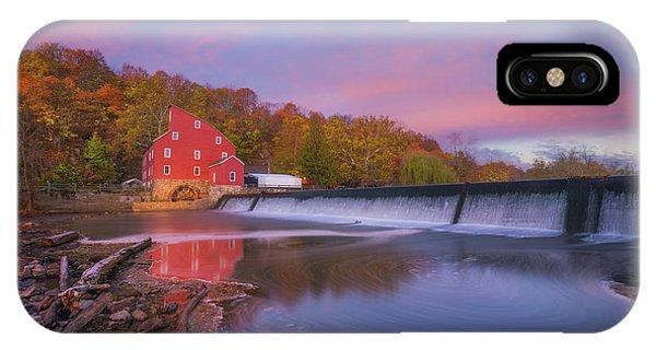 Red Mill Swirls  IPhone Case