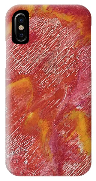 Red Monoprint One IPhone Case