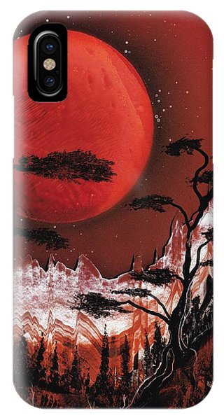IPhone Case featuring the painting Red Moon by Jason Girard