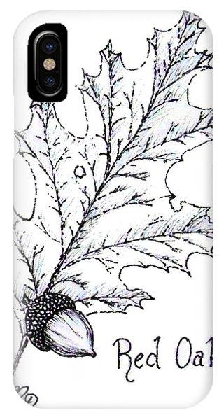 Red Oak Leaf And Acorn IPhone Case