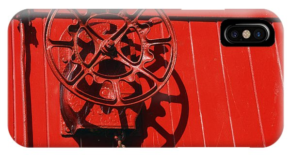 Red Caboose iPhone Case - Red On Red by Paul W Faust -  Impressions of Light