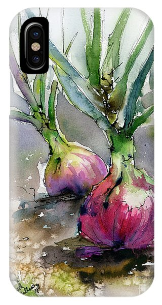Red Onions Watercolors IPhone Case