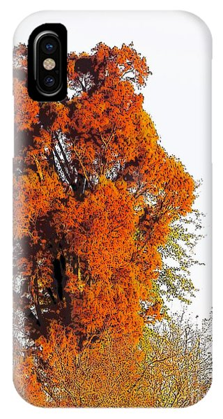 Red-orange Fall Tree IPhone Case