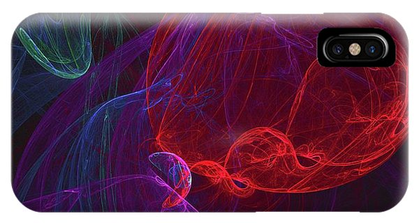Vibrant iPhone Case - Red Orb by Raphael Terra