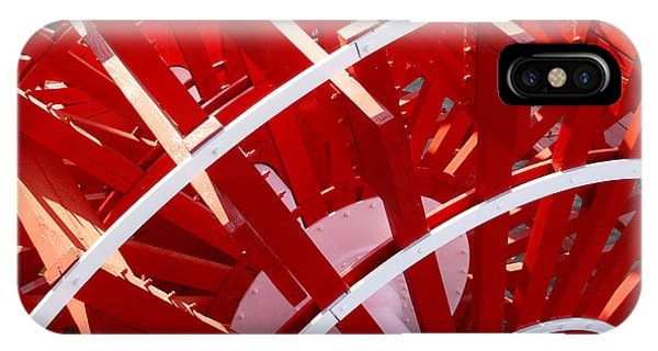 Red Paddle Wheel IPhone Case
