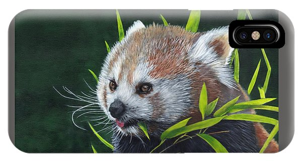 IPhone Case featuring the painting Red Panda by John Neeve