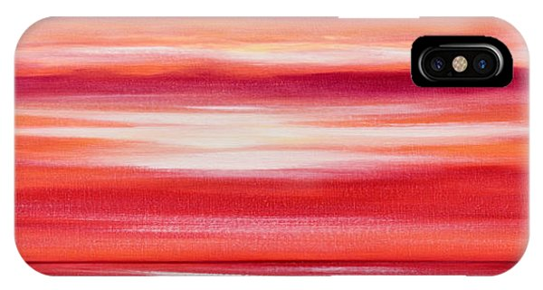 Red Panoramic Abstract Sunset IPhone Case
