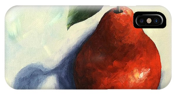 iPhone Case - Red Pear In The Spotlight by Torrie Smiley