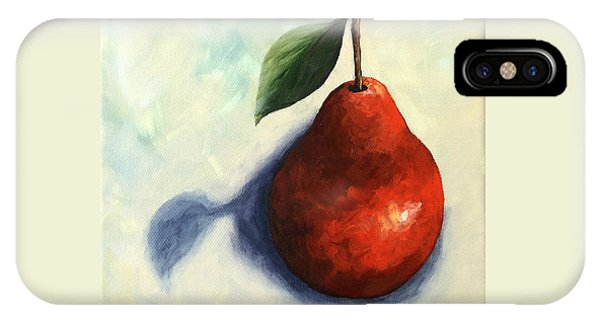 Red Pear In The Spotlight IPhone Case