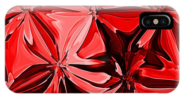 Red Pinched And Gathered IPhone Case