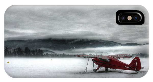 IPhone Case featuring the photograph Red Plane In A Monochrome World by Wayne King