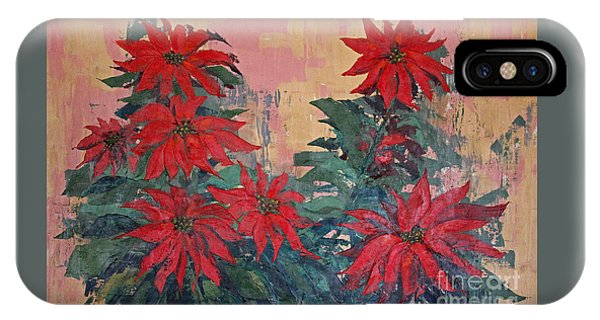 Red Poinsettias By George Wood IPhone Case