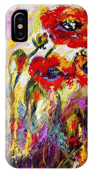 Red Poppies And Bees Provence Dreams IPhone Case