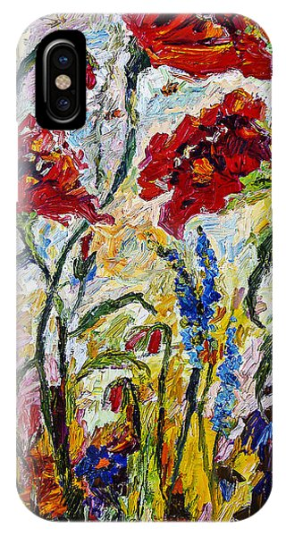 Red Poppies And Bees Provence IPhone Case