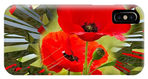 Red Poppies Go Digital IPhone Case