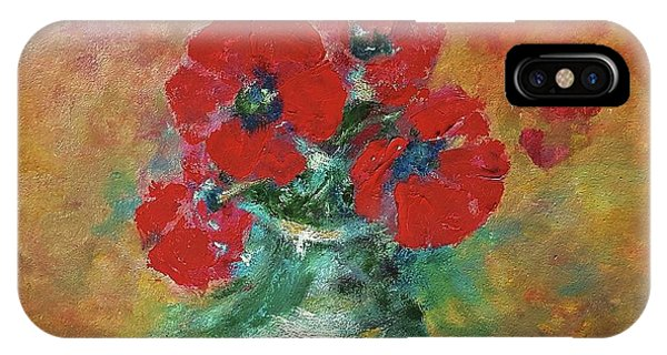 Red Poppies In A Vase IPhone Case
