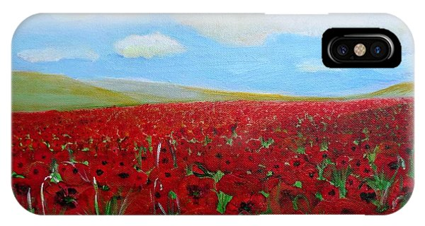Red Poppies In Remembrance IPhone Case