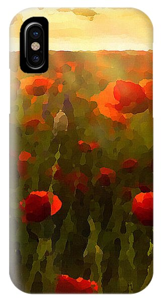 Red Poppies In The Sun IPhone Case