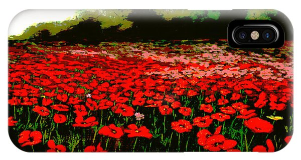 Red Poppies Landscapes Flowers Emerald Isle Multimedia Fine Art Phone Case by G Linsenmayer