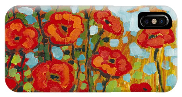 Red iPhone X Case - Red Poppy Field by Jennifer Lommers
