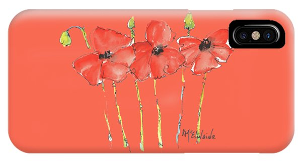 Red Poppy Play IPhone Case